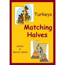 FREE Autism & Special Needs Activity- Matching Halves, Turkeys