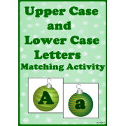 Upper Case & Lower Case Letter Matching Activity - Winter