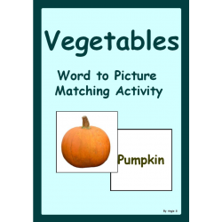 Vegetables Word to picture Matching Activity