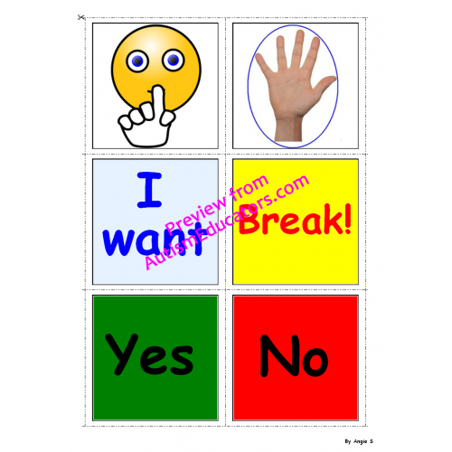 Free Autism Communication Cards