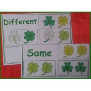 St. Patrick`s Day Matching Activity - Same or Different, Shamrocks