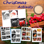 Christmas Activity Color to Black and White Matching