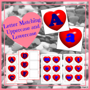 Heart Letters Activity for Valentine`s Day