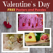 FREE Valentine`s Day Puzzles and Posters