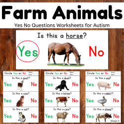 Print and Go Farm Animals Yes No Questions Activity for Speech Therapy