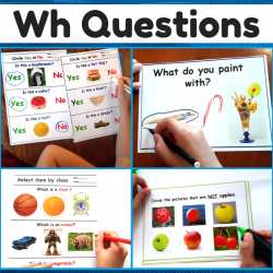 Wh Questions Print and Go Worksheets