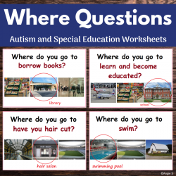 Where Questions Print and Go Worksheets