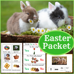 Easter Vocabulary Cards, Worksheets and Activities Packet