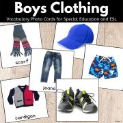 Boys Clothing Cards