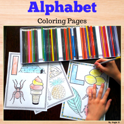 Alphabet Coloring Pages for Back to School