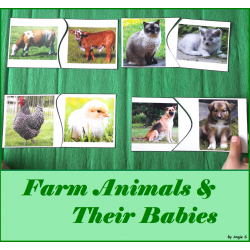 Farm Animals & Their Babies Matching Activity