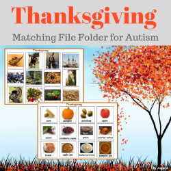Thanksgiving Activity - Autism Matching File Folders