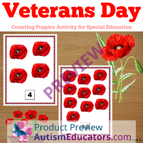 Veterans Day Activity Counting Poppies