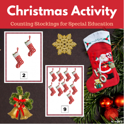 Christmas Stockings Counting Activity