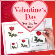 Valentine`s Day Sorting by Size Activity