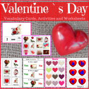 Valentine`s Day Activities and Worksheets for Autism and Special Education