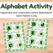 Uppercase and Lowercase Letters Matching Activity - Shamrocks