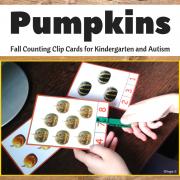 Fall Clip Cards - Pumpkins