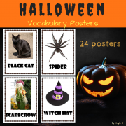 Halloween Vocabulary Posters