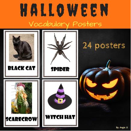 Halloween Vocabulary Posters