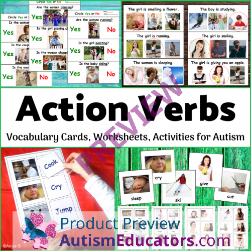 Action Verbs Worksheets, Activities And Flashcards