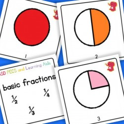 Basic Fraction Cards - Autism / Dyslexia / ASD / Dyscalculia