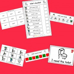 Toilet Visual Pack (boy) - Boardmaker / Autism / ADHD / ASD / PECS