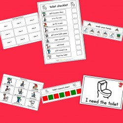 Toilet Visual Pack (girl) - Boardmaker / Autism / ADHD / ASD / PECS