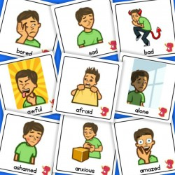 Boy Emotion / Feelings Cards - Boardmaker / Autism / ADHD / ASD / PECS