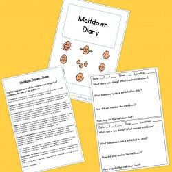 Meltdown Diary - Boardmaker / Autism / ADHD / ASD