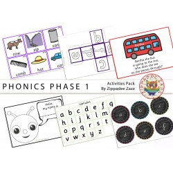 Phonics Phase 1 Activity Resources Pack-81 Printables/Worksheet/Games/Boardmaker