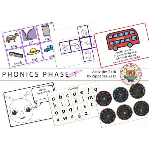 Phonics Phase 1 Activity Resources Pack 81 Printables Worksheet Games Boardmaker