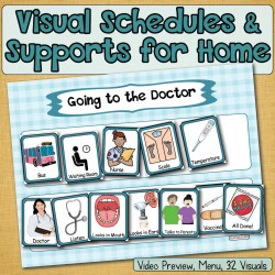 Going to Doctor: Visual Schedule, Social Story Starters, Pretend, Role-Play