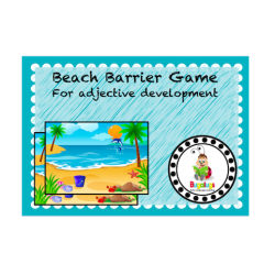 Barrier Game for adjective development at the Beach