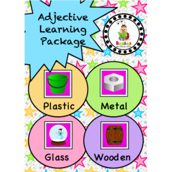 Adjective Workbook - Material (Plastic, Glass, Metal and Wooden)