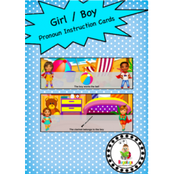 Pronoun Girl Boy Instruction Cards