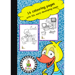 Vocabulary Building Colouring / Coloring Book - Basic