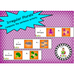 Irregular Plurals Complete the Sentence Activity