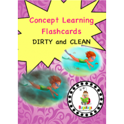 Adjective Flashcards - Dirty and Clean