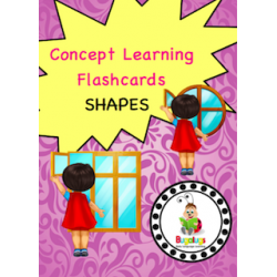 Adjective Flashcards - Shape (Square, Rectangular and Round)