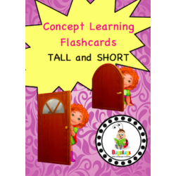 Adjective Flashcards - Tall and Short