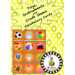 Vocabulary Cards - Toys, Instruments and Craft Items