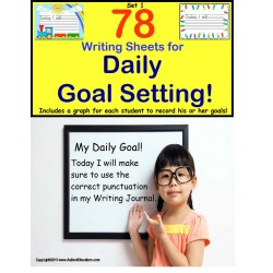 Writing for Daily Goal Setting {Kindergarten/First/Second/Special Education}