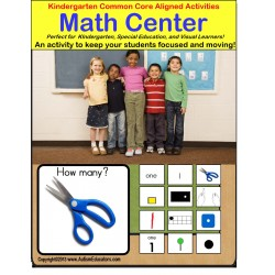 Kindergarten Common Core Aligned Math Center - Back To School - For Visual Learners