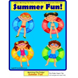 Summer Fun File Folder Game for Autism and Early Childhood FREE!
