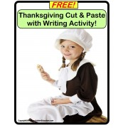 FREE Thanksgiving Cut and Glue with Writing Activity