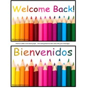 FREE Back To School Welcome Postcards