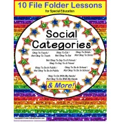 Autism CATEGORIES of Social Behavior – Okay/Not Okay SET OF 10 File Folder Activities