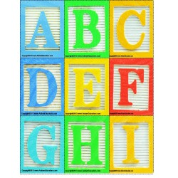 Alphabet Blocks Letter Cards Back To School Activity