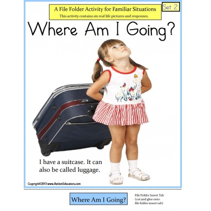 Autism File Folder Game of Familiar Situations - Where Am I Going? {SET 2}